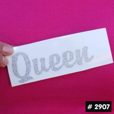 Small Queen Glitter Iron-on Decal