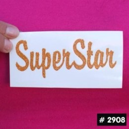Superstar Glitter Iron-on Decal