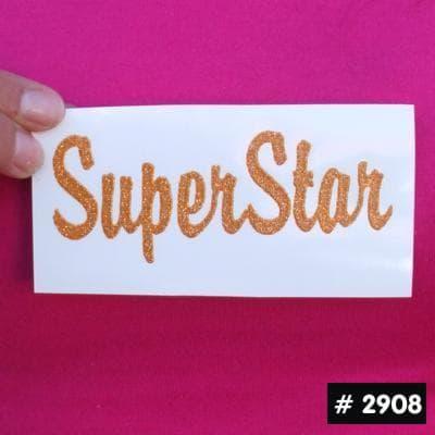 Superstar Glitter Iron-on Decal