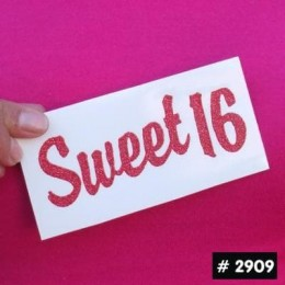 Sweet 16 Glitter Iron-on Decal