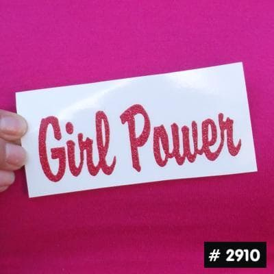 Girl Power Glitter Iron-on Decal