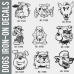Dogs Iron-on Transfers Decal Designs