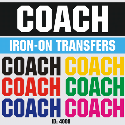 Coach Iron-on Decal