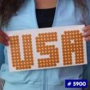 USA Iron-on Transfers Glitter Decals