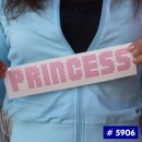 Princess Glitter Iron-on Decals