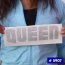 Queen Glitter Iron-on Decals