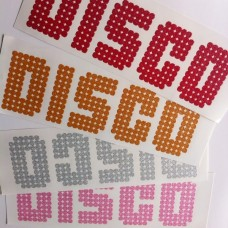 DISCO Iron-on Transfers Glitter Decals