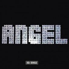 ANGEL Iron-on Transfers Glitter Decals