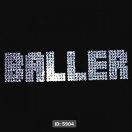 Baller Iron-on Transfers Glitter Decals