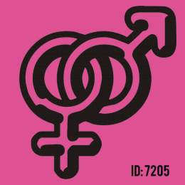 Male & Female Iron-on Decal