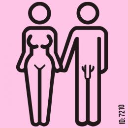 Adam & Eve Iron-on Decal
