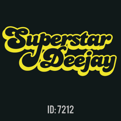 Superstar Deejay Iron-on Decal