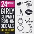 Girls Iron-on Decals Designs