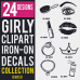 Girls Iron-on Decals Designs