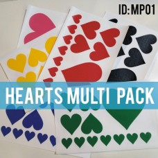 Hearts Iron-on Multi Color Pack