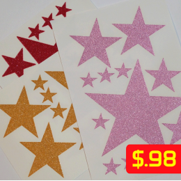Stars Glitter Iron-on Decals