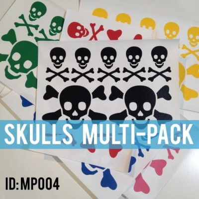 Skulls Iron-on Multi Color Pack