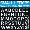 Small Half Inch Iron-on Letters