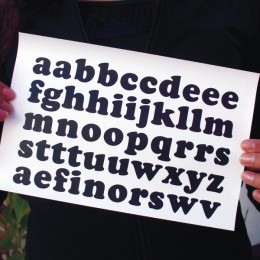 Lowercase 1 inch iron-on letters
