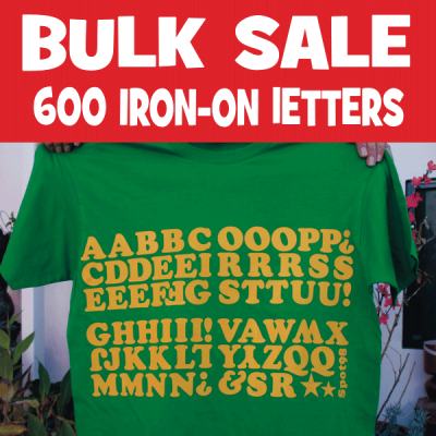 600 Vintage Iron-on Letters Bulk Sale