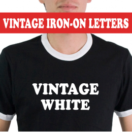 Vintage White Iron-on Letters