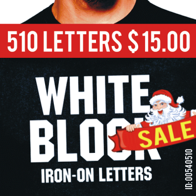 Rockit 510 Iron-on Letters Pack