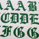 Gothic GREEN Iron-on Letters