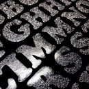 Glitter Disco iron-on Letters 1 inch Uppercase