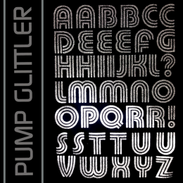 Pump Glitter Iron-on Letters Uppercase