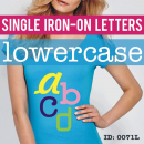 Single individual Iron-on Letters Lowercase
