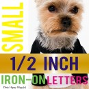 Small 1/2 inch Iron-On Letters & Numbers.