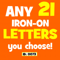 Any 21 Iron-on Letters Numbers Your Choice
