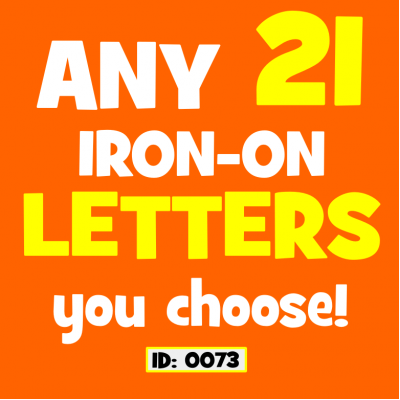 Flex Vinyl Iron-on Letters Any 21 Pack.