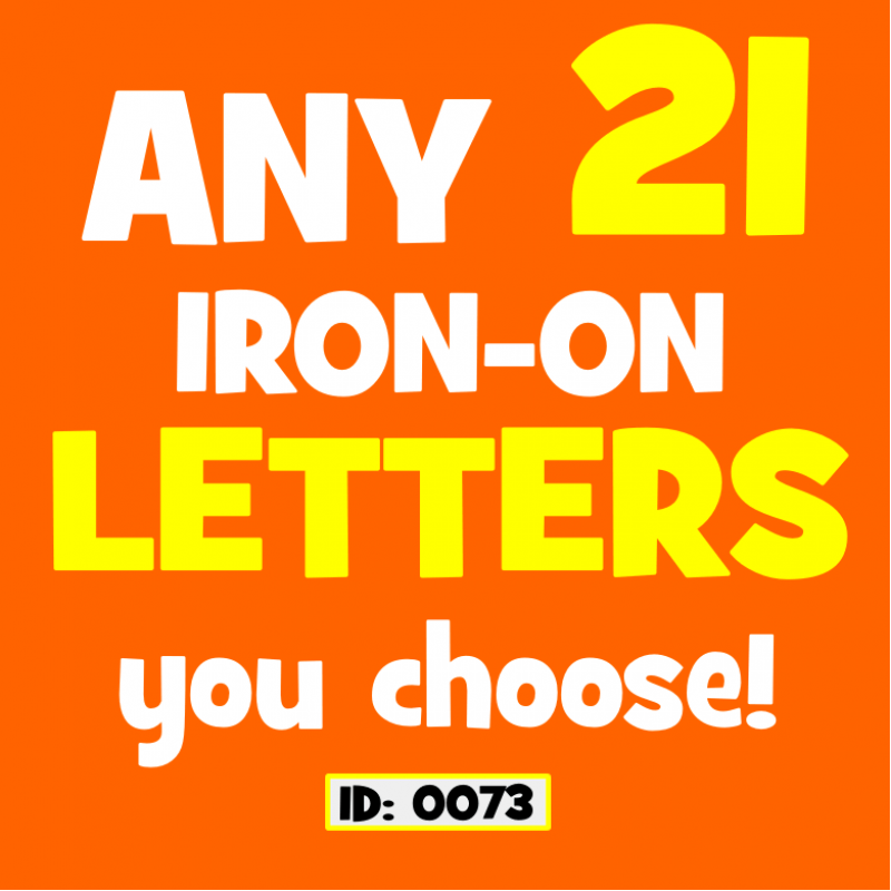 flex vinyl iron on letters any 21 pack