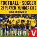 Soccer 21 Player Vinyl Iron-on Transfer Numbers Kit