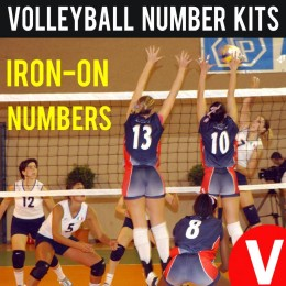 Volleyball 6 Players Vinyl Iron-on Numbers Kit