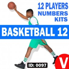 Volleyball 6 Players Iron-on Numbers Kit