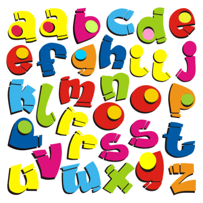Kids Bubble Iron-on Letters