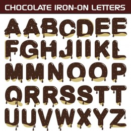 Chocolate Iron-on Letters