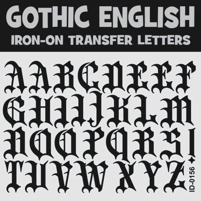 Gothic old english iron on transfer letters alphabets a z gothic 15 inch iron on letters uppercase altavistaventures Gallery