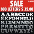 800 Glitter Iron-on Letters