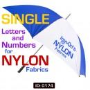 Nylon Iron-on Letters for heat sensitive fabrics.
