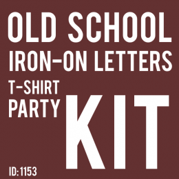 Old School iron-on Letter T-Shirt Party Kit