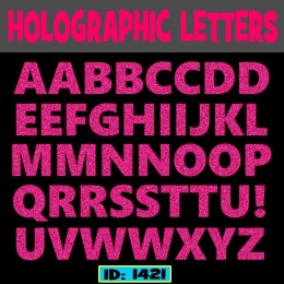 Hologram Iron-on Letters