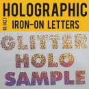 Hologram Iron-on Transfer Letters Uppercase 1.5 inch