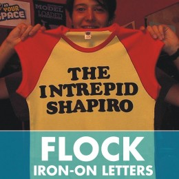 Flock Iron-On Transfer Letters 21 Pack