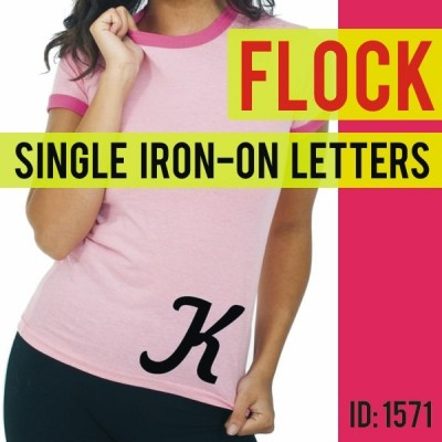Flock Iron-On Letters