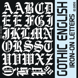 Gothic English Iron-on Letters