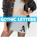Gothic Iron-on Letters
