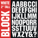 Block Iron-on Letters